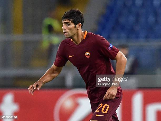 Federico Fazio of AS Roma in action during the UEFA Europa League match between AS Roma and FC Astra Giurgiu at Olimpico Stadium on September 29 2016...