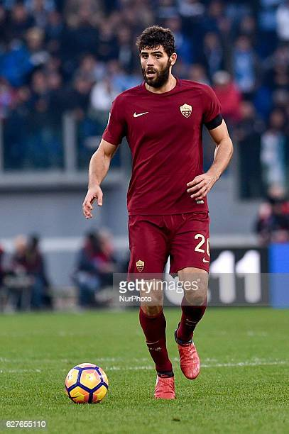 Federico Fazio of Roma during the Serie A match between Lazio v Roma on December 4 2016 in Rome Italy