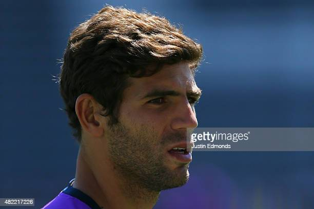 Federico Fazio of Tottenham Hotspur works out during training ahead of a game against the MLS AllStar team at Dick's Sporting Goods Park on July 28...