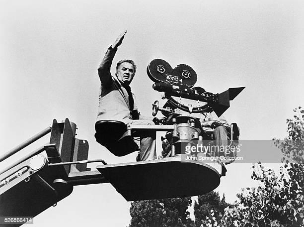 Federico Fellini Directing from Camera