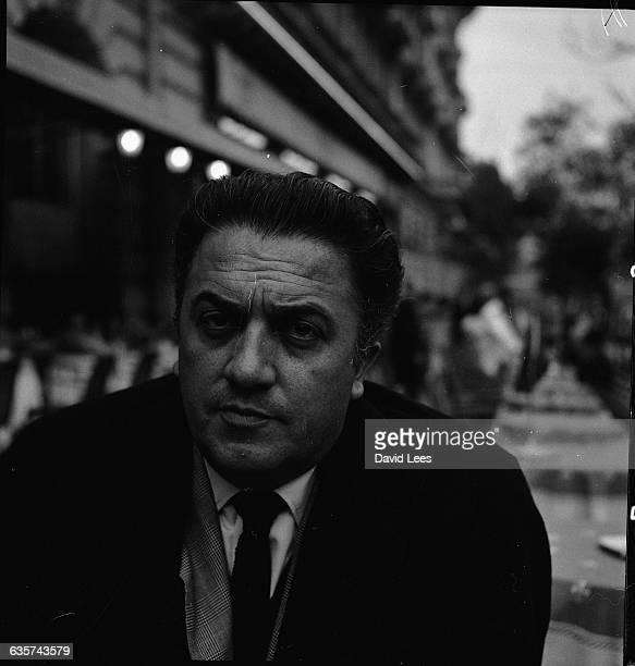 Federico Fellini during the filming in 1960 of his film 'La Dolce Vita'