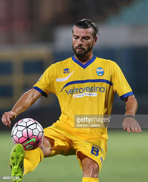 Federico Gentili of Spal during the TIM Cup match between Calcio Catania and Spal at Stadio Angelo Massimino on August 10 2015 in Catania Italy