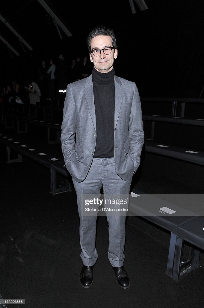 Federico Marchetti attends the Alberta Ferretti fashion show during Milan Fashion Week Womenswear Fall/Winter 2013/14 on February 20, 2013 in Milan, Italy.