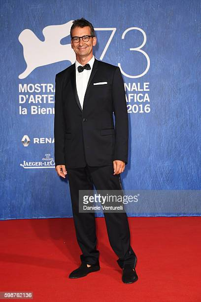 Federico Marchetti attends the premiere of 'Franca Chaos And Creation' during the 73rd Venice Film Festival at Sala Giardino on September 2 2016 in...