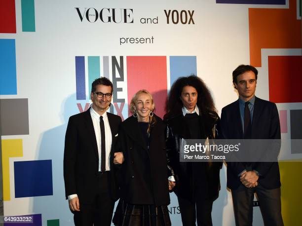 Federico Marchetti Carla Sozzani and Sara Maino and Emanuele Farnetti attend Next Talents Vogue during Milan Fashion Week FW17 on February 22 2017 in...