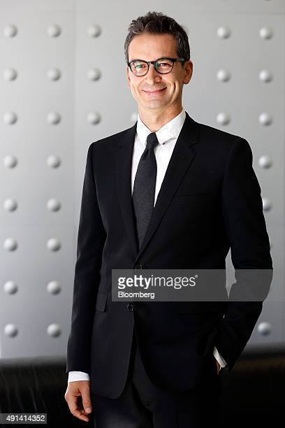 Federico Marchetti chief executive officer for Yoox NetaPorter SpA poses for a photograph following a Bloomberg Television interview in Milan Italy...