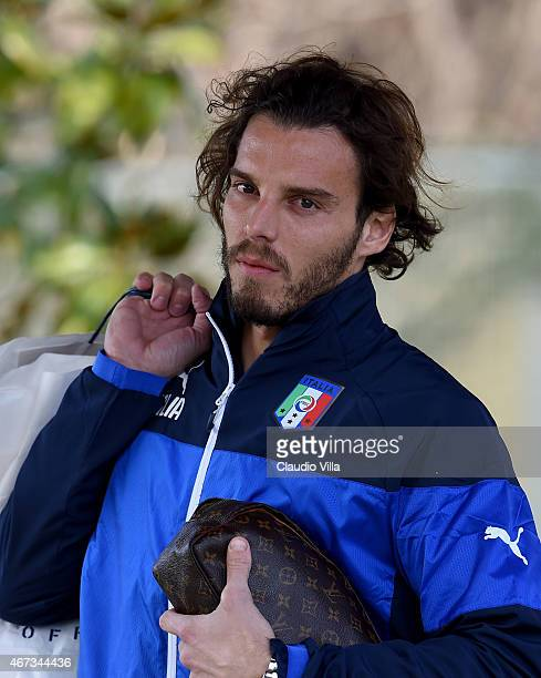 Federico Marchetti during Italy Training Session at Coverciano on March 23 2015 in Florence Italy