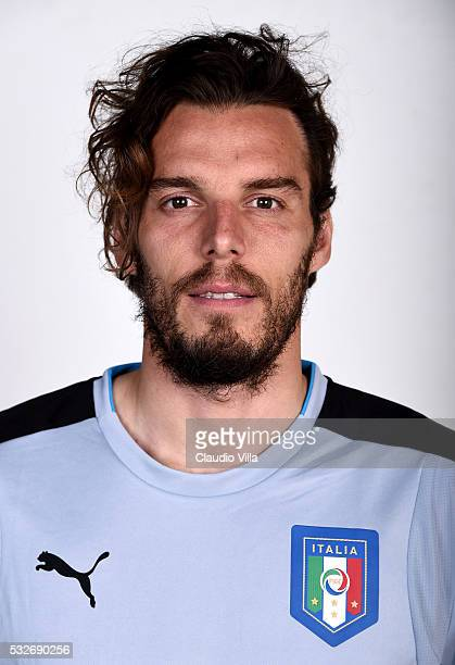 Federico Marchetti of Italy poses during the official portrait session at Coverciano on May 19 2016 in Florence Italy