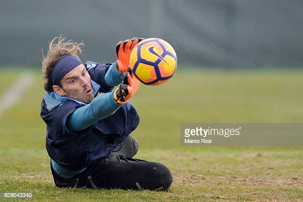 Federico Marchetti of Lazio during a training session at the Formello Center on December 6 2016 in Rome Italy