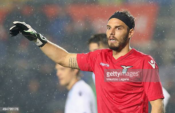 Federico Marchetti of Lazio during the Serie A match between Atalanta BC and SS Lazio at Stadio Atleti Azzurri d'Italia on October 28 2015 in Bergamo...
