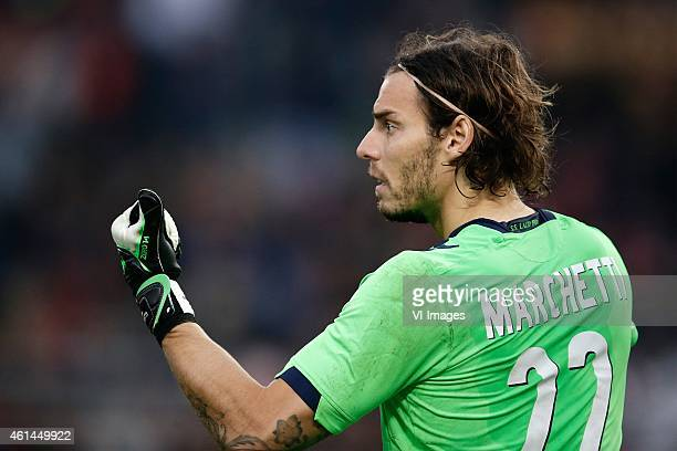 Federico Marchetti of SS Lazio during the Serie A match between AS Roma and Lazio Roma on January 112014 at the Stadio Olimpico in Rome Italy
