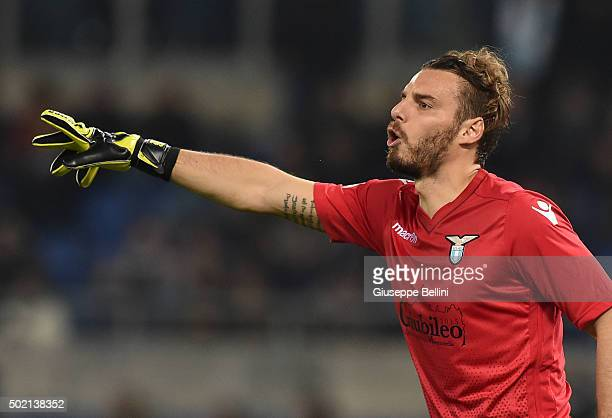 Federico Marchetti of SS Lazio in action during the Serie A match between SS Lazio and Juventus FC at Stadio Olimpico on December 4 2015 in Rome Italy