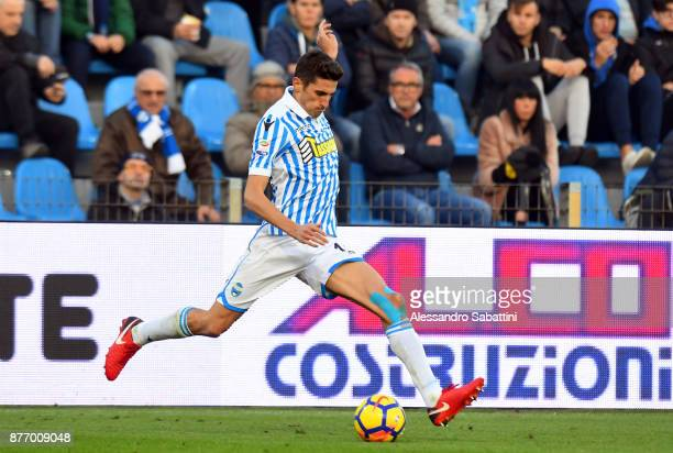 Federico Mattiello of Spal in action during the Serie A match between Spal and ACF Fiorentina at Stadio Paolo Mazza on November 19 2017 in Ferrara...