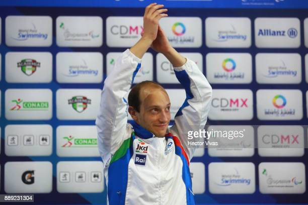 Federico Morlacchi of Italy Gold Medal celebrates in men's 400 m Freestyle S9 celebration during day 7 of the Para Swimming World Championship Mexico...