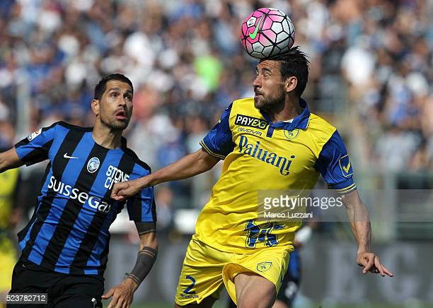 Federico Nicolas Spolli of AC Chievo Verona in action during the Serie A match between Atalanta BC and AC Chievo Verona at Stadio Atleti Azzurri...