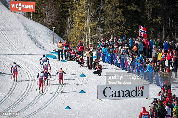 Federico Pellegrino Eirik Brandsdal Maurice Manificat Martin Johnsrud Sundby Finn Haagen Krogh Petter Northug during Cross Country Final Men 15 km...