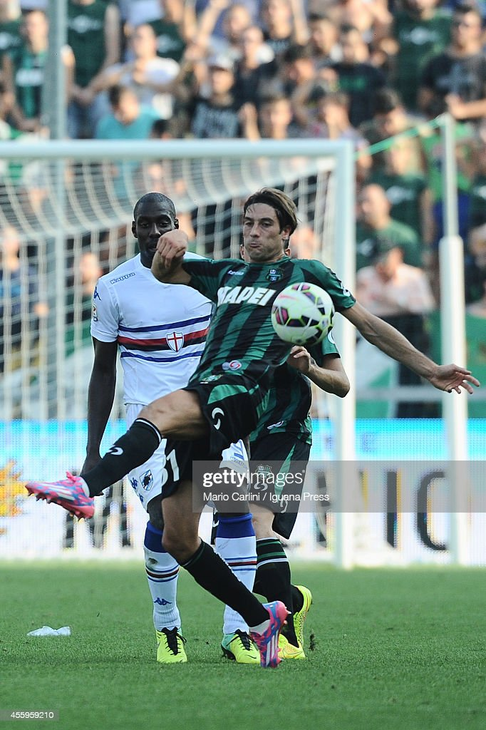 <a gi-track='captionPersonalityLinkClicked' href=/galleries/search?phrase=Federico+Peluso&family=editorial&specificpeople=6336600 ng-click='$event.stopPropagation()'>Federico Peluso</a> #31 of US Sassuolo Calcio in action during the Serie A match between US Sassuolo Calcio and UC Sampdoria on September 21, 2014 in Reggio nell'Emilia, Italy.