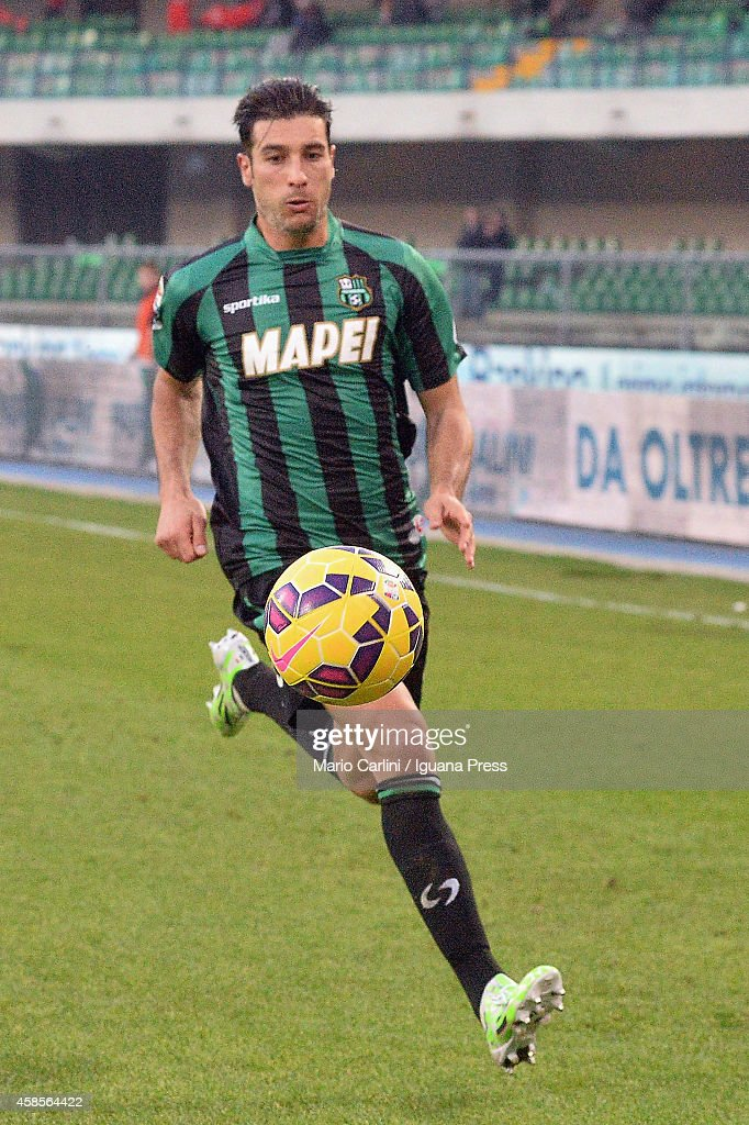 <a gi-track='captionPersonalityLinkClicked' href=/galleries/search?phrase=Federico+Peluso&family=editorial&specificpeople=6336600 ng-click='$event.stopPropagation()'>Federico Peluso</a> # 31 of US Sassuolo Calcio in action during the Serie A match between AC Chievo Verona and US Sassuolo Calcio at Stadio Marc'Antonio Bentegodi on November 2, 2014 in Verona, Italy.