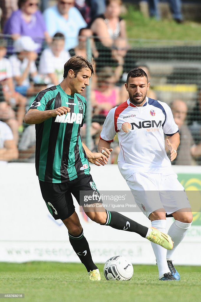 <a gi-track='captionPersonalityLinkClicked' href=/galleries/search?phrase=Federico+Peluso&family=editorial&specificpeople=6336600 ng-click='$event.stopPropagation()'>Federico Peluso</a> # 3 of US Sassuolo in action during the pre-season frienldy match between FC Bologna and US Sassuolo on August 6, 2014 in Modena, Italy.
