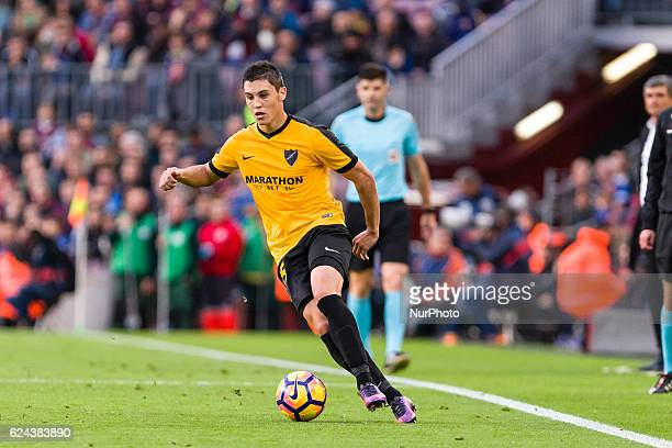 Federico Ricca during the match between FC Barcelona vs Malaga CF for the round 12 of the Liga Santander played at Camp Nou Stadium on 19th November...