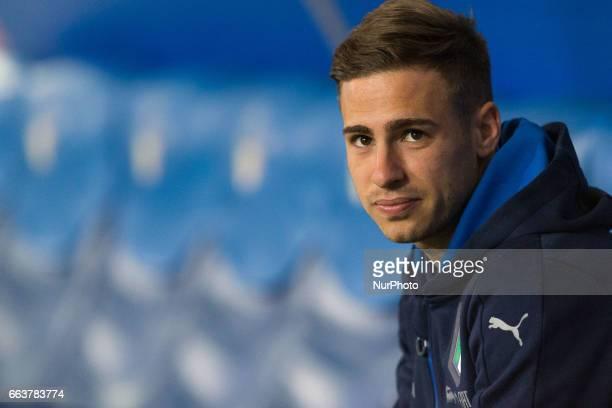 Federico Ricci of Italia U21 before the International Friendly Under 21 Italia v Spagna at Olimpico Stadium on March 27 2017 in Rome Italy