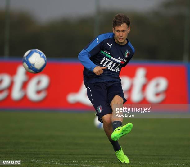 Federico Ricci of Italy in action during the Italy U21 training session on March 20 2017 in Rome Italy