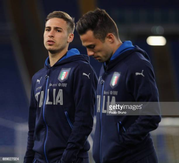 Federico Ricci of Italy looks on before the international friendly match between Italy U21 and Spain U21 at Olimpico Stadium on March 27 2017 in Rome...