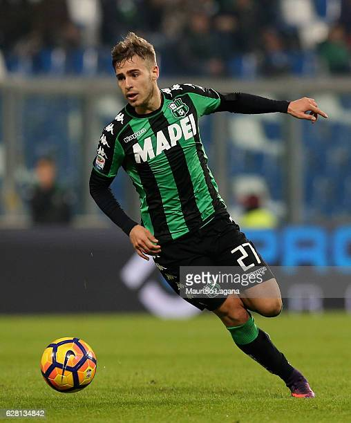 Federico Ricci of Sassuolo during the Serie A match between US Sassuolo and Empoli FC at Mapei Stadium Citta' del Tricolore on December 4 2016 in...