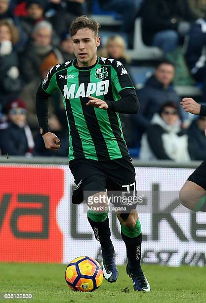 Federico Ricci of Sassuolo during the Serie A match between US Sassuolo and FC Torino at Mapei Stadium Citta' del Tricolore on January 8 2017 in...