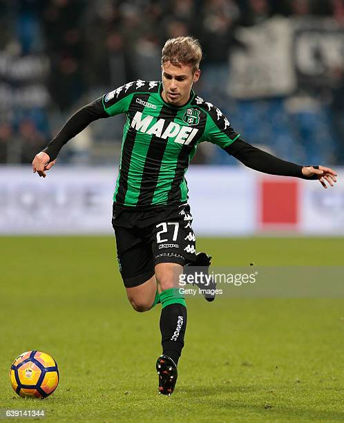 Federico Ricci of US Sassuolo Calcio in action during the TIM Cup match between US Sassuolo and AC Cesena at Mapei Stadium Citta' del Tricolore on...
