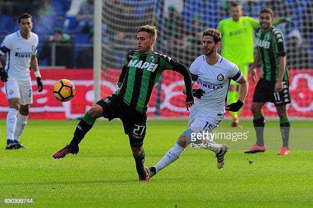 Federico Ricci Sassuolo's forward during the serie A football match between US Sassuolo Calcio and FC Internazionale Milano at Mapei Stadium in...