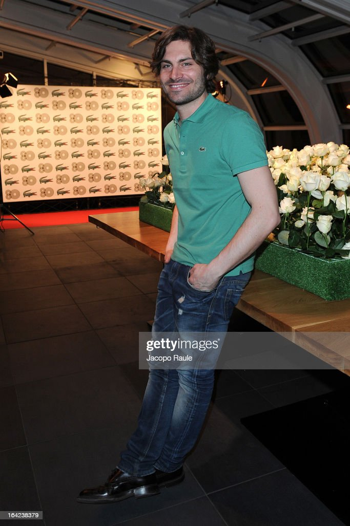Federico Russo attends Lacoste 80th Anniversary cocktail party at La Rinascente on March 21, 2013 in Milan, Italy.