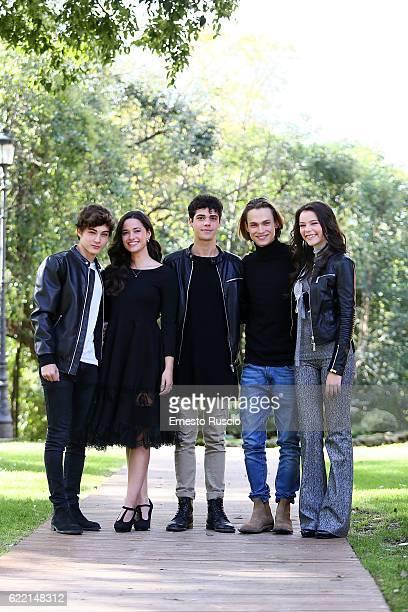 Federico Russo Chiara Primavesi Emanuele Misuraca Saul Nanni and Eleonora Gaggero attend a photocall for 'Come Diventare Grandi Nonostante I...