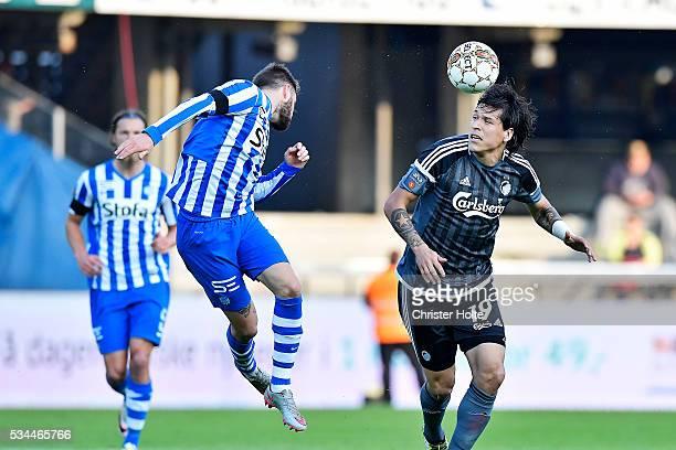 Federico Santander of FC Copenhagen The Danish Alka Superliga match between Esbjerg fB and FC Copenhagen at Blue Water Arena on May 26 2016 in...
