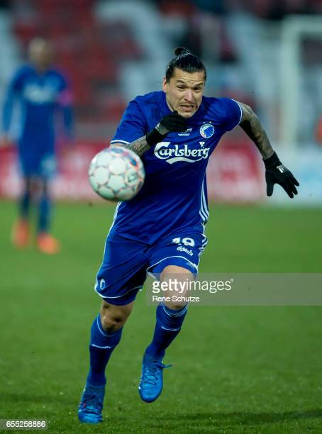 Federico Santander of FC Copenhagenthe Danish Alka Superliga match between Silkeborg IF and FC Copenhagen at Mascot Park on March 19 2017 in...