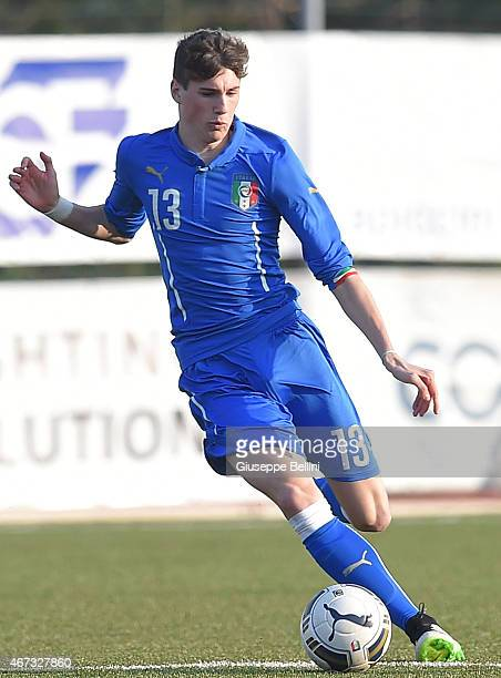 Federico Valietti of Italy in action during the international friendly match between U16 Italy and U16 Germany on March 18 2015 in Recanati Italy