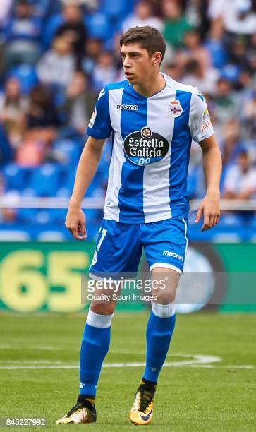 Federico Valverde of Deportivo de La Coruna during the La Liga match between Deportivo La Coruna and Real Sociedad at on September 10 2017 in La...