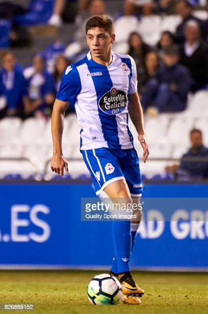 Federico Valverde of Deportivo de La Coruna in action during the Pre Season Friendly match between Deportivo de La Coruna and West Bromwich Albion at...