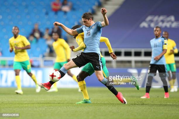 Federico Valverde of Uruguay and Teboho Mokoena of South Africa during the FIFA U20 World Cup Korea Republic 2017 group D match between Uruguay and...
