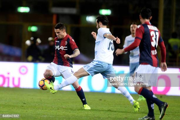 Federico Viviani of Bologna FC in action during the Serie A match between Bologna FC and SS Lazio at Stadio Renato Dall'Ara on March 5 2017 in...