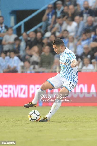 Federico Viviani of Spal in action during the Serie A match between Spal and SSC Napoli at Stadio Paolo Mazza on September 23 2017 in Ferrara Italy
