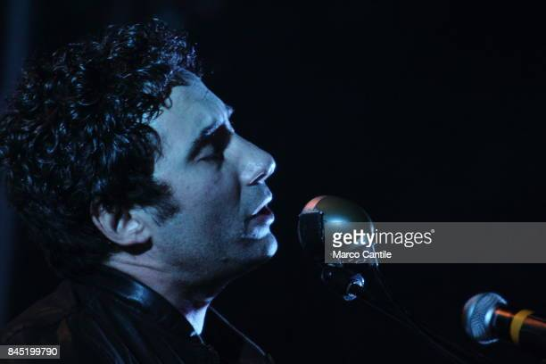 Federico Zampaglione singer end leader of pop group Tiromancino during a concert at Bagnoli Arenile