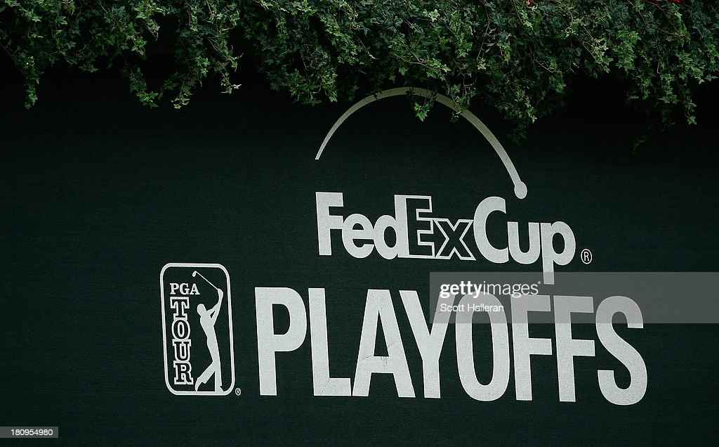 A FedEx Cup banner is seen near the clubhouse during a practice round prior to the start of the TOUR Championship by Coca-Cola at East Lake Golf Club on September 18, 2013 in Atlanta, Georgia.
