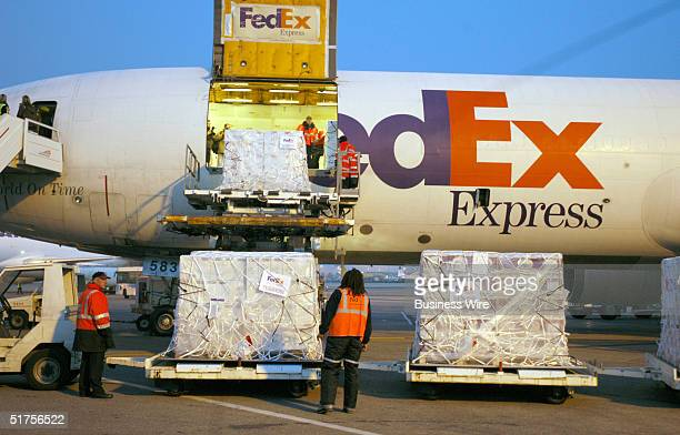 FedEx Express begins transporting 630 tons or 504000 bottles of 2004 Beaujolais Nouveau wine from LyonSaintExupery Airport to Japanese enthusiasts...