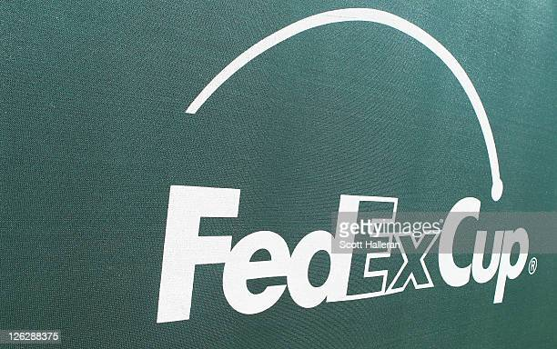 FedExCup logo is seen during the third round of the TOUR Championship at East Lake Golf Club on September 24 2011 in Atlanta Georgia