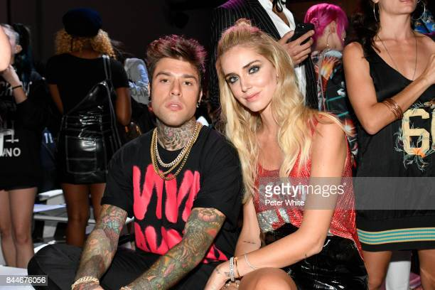 Fedez and Chiara Ferragni attend the Jeremy Scott fashion show during New York Fashion Week on September 8 2017 in New York City