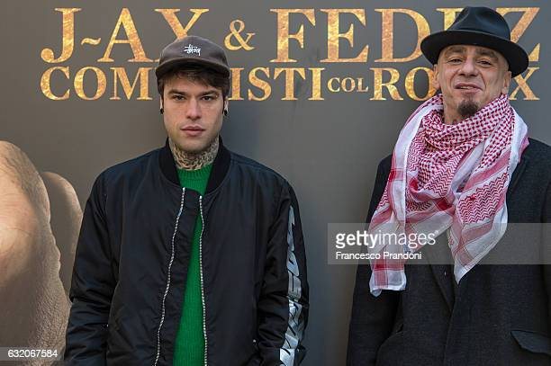 Fedez and JAX attends a photocall for 'Comunisti Col Rolex' album presentation on January 19 2017 in Milan Italy