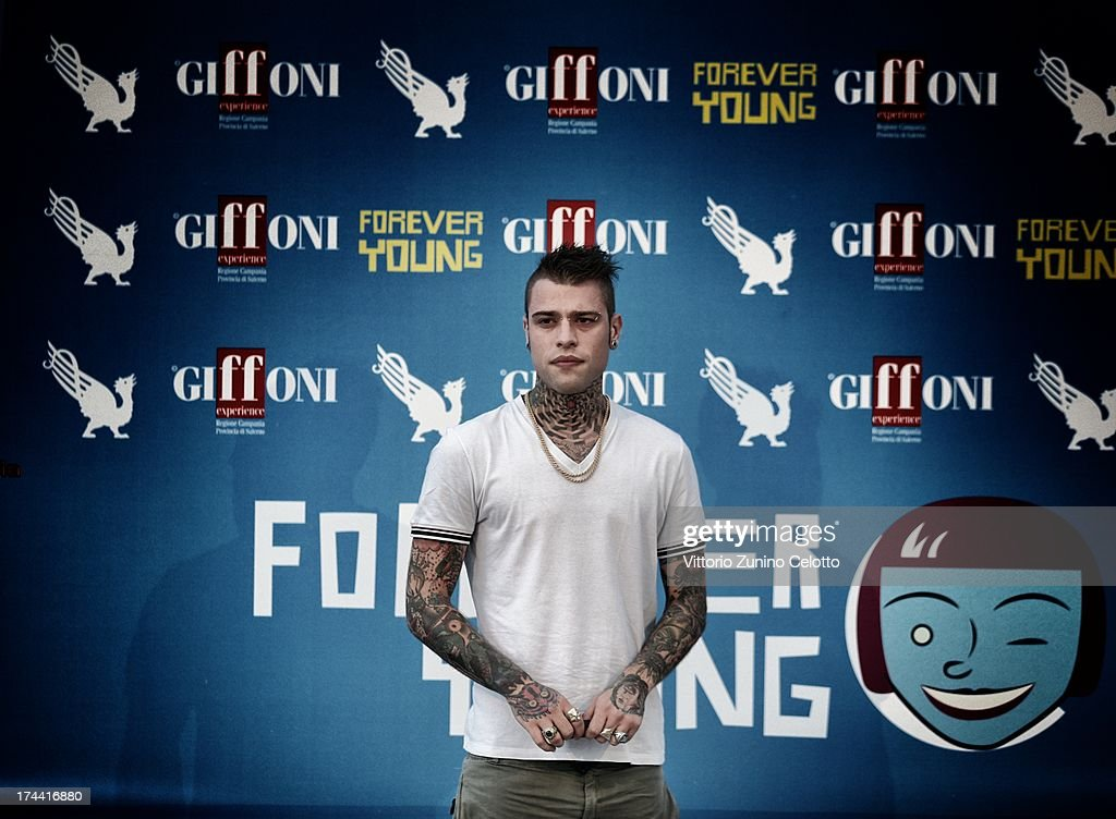 Fedez attends 2013 Giffoni Film Festival photocall on July 25, 2013 in Giffoni Valle Piana, Italy.