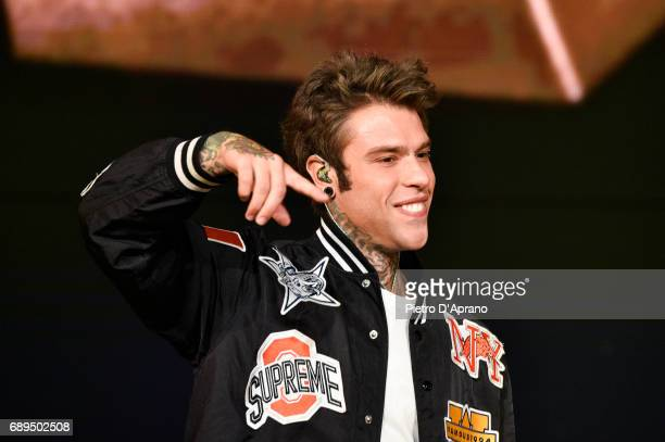 Fedez attends 'Che Tempo Che Fa' tv show at Rai Milan Studios on May 28 2017 in Milan Italy