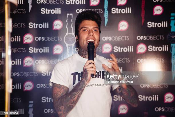 Fedez performs at Stroili Oro Store Cso Buenos Aires Milan on June 8 2017 in Milan Italy
